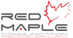 RED MAPLE COMMUNICATION Logo
